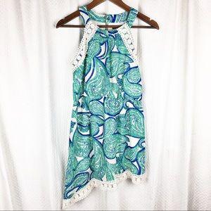 My Michelle Girls Paisley Lace Edge Dress 16